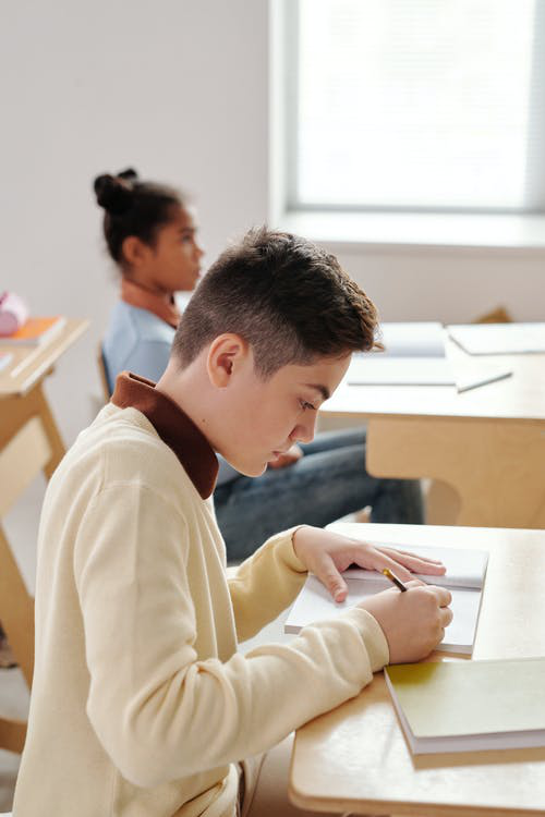 A student preparing for the Selective School test